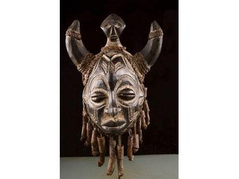 Mask från Chokwefolket i Angola i Afrika 42 cm - Vingåker - Mask från Chokwefolket i Angola i Afrika 42 cm - Vingåker