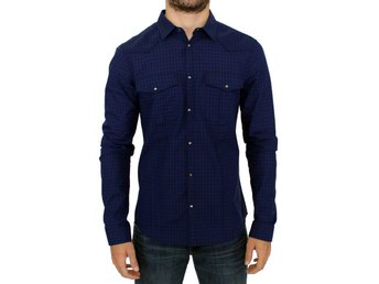 Costume National - Blue checkered cotton shirt