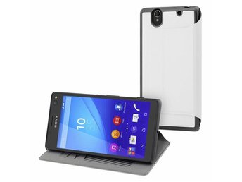 Slim Wallet Case Xperia C4 Vit