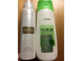 Oriflame Hair spray Hårspray More Hair X Pure Balance Shampoo oily Hair