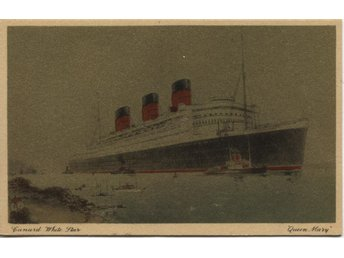 "Queen Mary""silverkort"" Cunard  obeg"