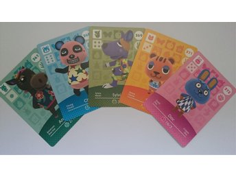 Animal Crossing Amiibo Cards series 4 Nr 367 - 369, 371 - 372