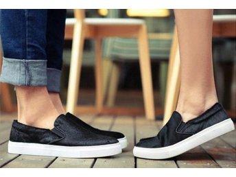 Läder älskare skor svart strl 39 - Shanghai - Läder älskare skor svart strl 39 - Shanghai