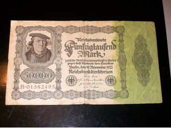 SEDEL 50000 MARK 1922 BERLIN TYSKLAND