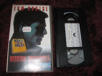 MISSION IMPOSSIBLE (TOM CRUISE,JON VOIGHT) VHS