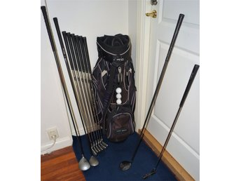 "Golfset Herr Järn Top Flite X-2 + 1""Driver + 3""Fairway + Putter & Ogio Bag"