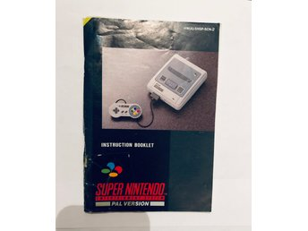 Manual Snes Super Nintendo (SCN-2 Tejpad)