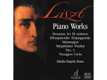 Ethella Chuprik - Liszt Piano Works - 1993 - 1996 Reissue - CD - Bålsta - Ethella Chuprik - Liszt Piano Works - 1993 - 1996 Reissue - CD - Bålsta