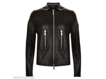 Giorgio Brato washed leather jacket biker skinnjacka, strl 54 - Kista - Giorgio Brato washed leather jacket biker skinnjacka, strl 54 - Kista