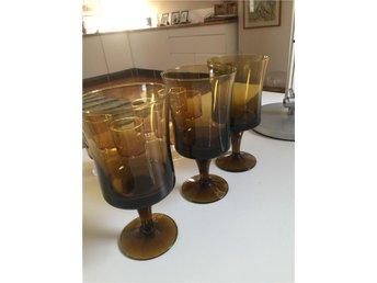 Retro 2 glas, orangefärgade 16 cm hög, 8,5 cm diameter - Lyckeby - Retro 2 glas, orangefärgade 16 cm hög, 8,5 cm diameter - Lyckeby