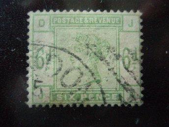 ENGLAND 109. VICTORIA BRA 6 P * GRÖN ÅR 1883...SG. 2300 KR - Kokkola - ENGLAND 109. VICTORIA BRA 6 P * GRÖN ÅR 1883...SG. 2300 KR - Kokkola