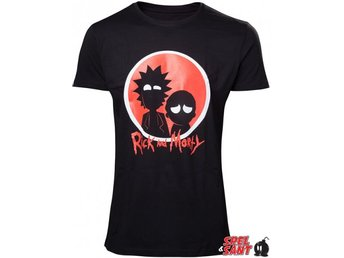 Rick & Morty Black Silhouette T-Shirt Svart (X-Large)