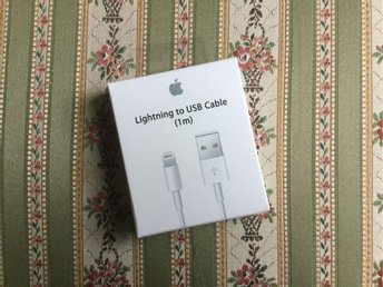 Iphone laddare - Apple - Original - Lightning - 1m - Plomberad