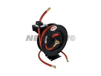 "Auto Retractable Air Hose Reel Rubber airline 30ft 3/8"" for compressor air tools"