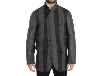 Dolce & Gabbana - Gray striped wool stretch blazer