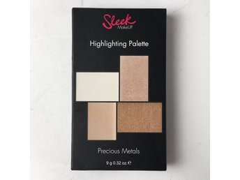 Sleek Makeup, Ögonskuggspalett, 9g, Highlighting Palette, Brun/Beige