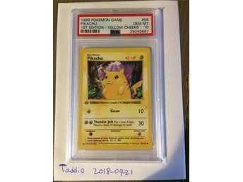 PSA 10 base set 1st edition Pikachu pokemon