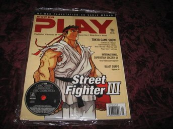 SUPER PLAY MAJ 1997 MED DEMO SKIVA (STREET FIGHTER III) NY INPLASTAD