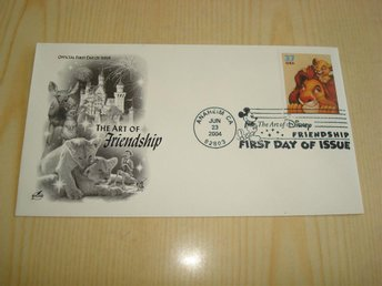 Walt Disney The Art of Friendship 2004 USA förstadagsbrev