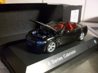 BMW 4-series 435i cab svart  1:43, MINT!