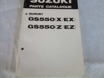 Suzuki GS550  1982 Parts Catalogue NOS