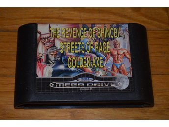 Golden Axe / Streets Of Rage / The Revenge Of Shinobi - Sega Mega Drive