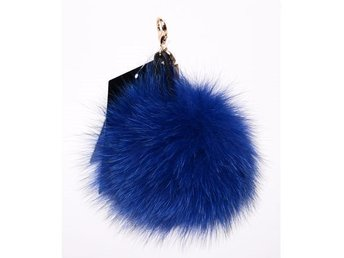 Hpi Of Sweden Handbag Decoration Real Fox Fur Blue