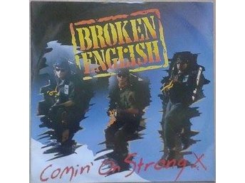 "Broken English title* Comin' On Strong* Pop Rock 12"" UK"