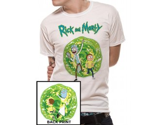 RICK AND MORTY - PORTAL (FRONT AND BACK PRINT) (UNISEX) - Extra-Large