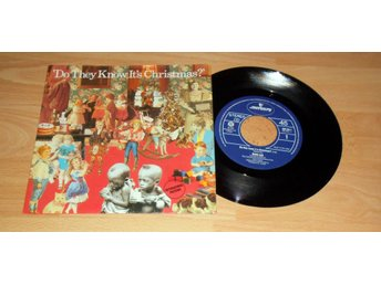 "BAND AID - DO THEY KNOW IT'S CHRISTMAS, FEED THE WORLD 7"" VINYL 1984"