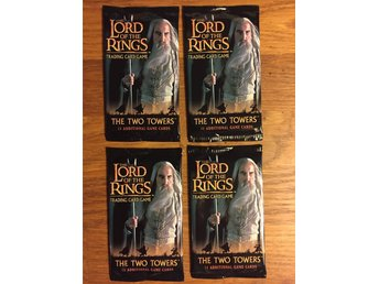 LOTR TCG 4 st THE TWO TOWERS Boosters (Sagan om Ringen)