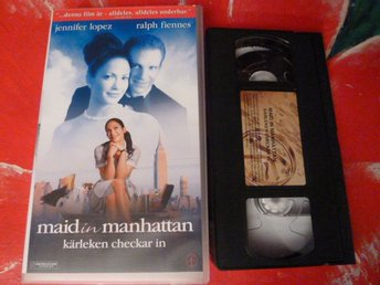 MAID IN MANHATTAN, KÄRLEKEN CHECKAR IN, VHS, FILM, ROMANTISK KOMEDI, 111 MIN.