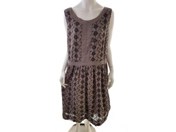 Noa noa size XXL Dress for straps embroidery flowers cotton 100% brown