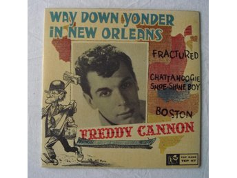 FREDDY CANNON - Way Down Yonder In New Orleans, Swe-1960 EP