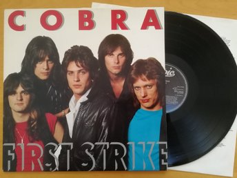 "LP-  COBRA -"" FIRST STRIKE ""  Style: HardRock   Eur. 1983"
