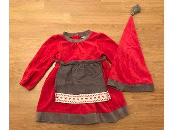 lägsta rabatt fånga spara av Grå/röd tomte klänning med luva Kappahl, stl 80 (371348740) ᐈ Köp ...
