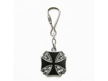 Iron Cross Skull Nyckelring.