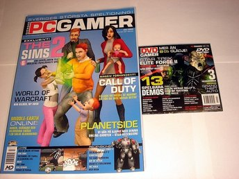 PC GAMER  Nr79 HELT NY m FÖRSTA DVD  JULI 2003  THE SIMS 2