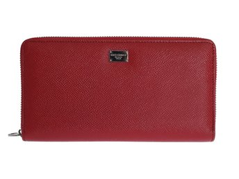 Dolce & Gabbana - Red Leather Dauphine Continental Wallet
