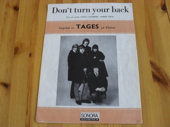 "TAGES notblad  ""don't turn your back"""