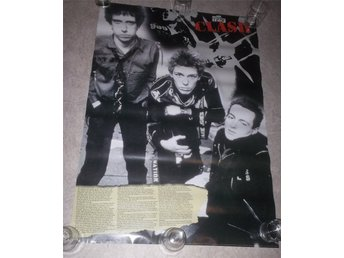 THE CLASH (poster, affisch) British punk history, Strummer Jones punkrock