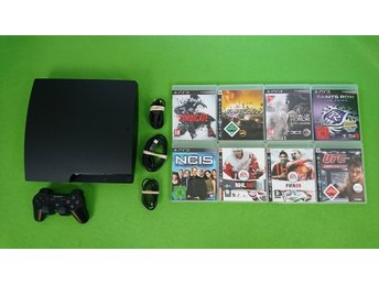 Playstation 3 konsol 320gb 8 Spel basenhet 320gb