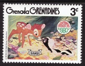 Disney, Grenada Grenadines, 3-cent Bambi, Scott 414