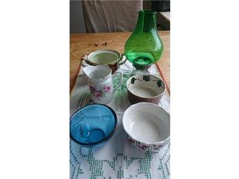 Diverse 6st små porslin och glas prylar - Skarpnäck - Diverse 6st små porslin och glas prylar - Skarpnäck
