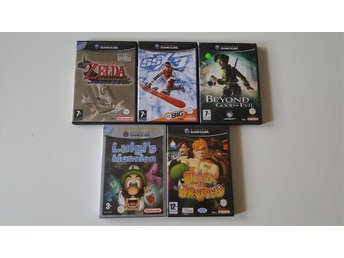 Gamecube spel kompletta zelda luigis mansion beyond good and evil med flera