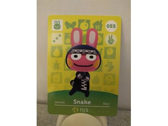 Animal Crossing Amiibo Welcome Amiibo card nr 055 Snake