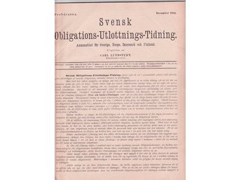 Svensk Obligations-Utlottnings-Tidning December 1884