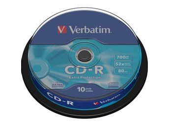 Verbatim CD-R, 52x, 700MB/80min, 10-pack, Extra Protection
