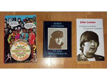 3 st Beatles-böcker - Bl.a. John Lennon - In his own write - Tryckt 1964