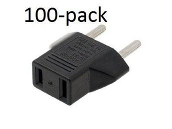 Adapter USA-Svensk strömkontakt 100-pack